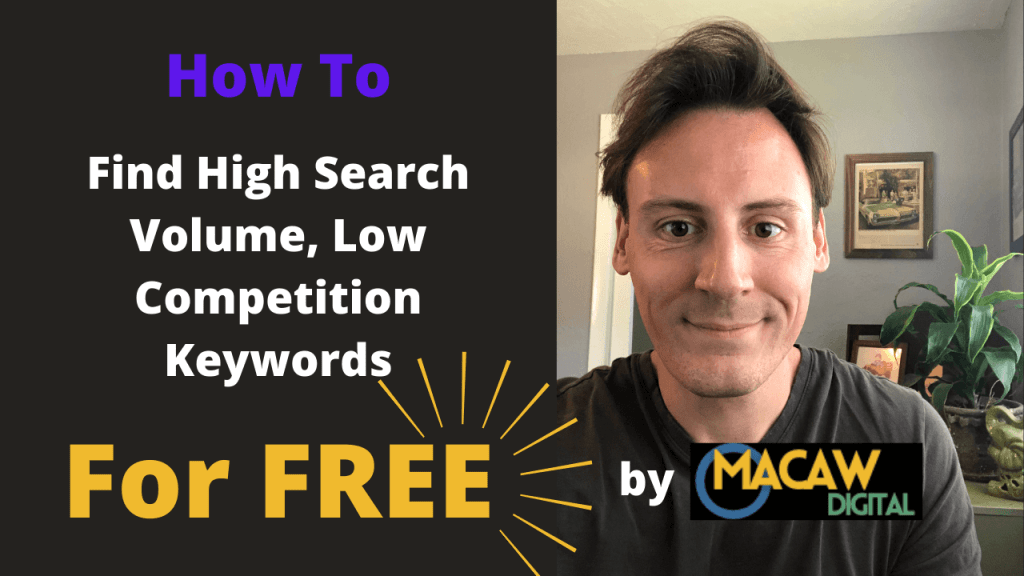 how to find high search volume low competition keywords featured image