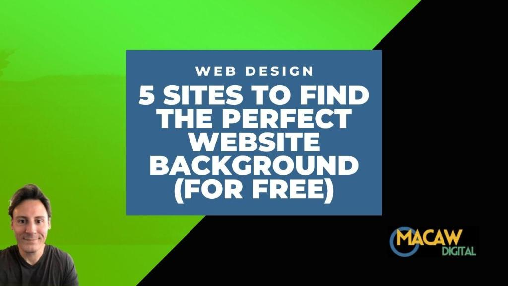 sites to find the perfect website background