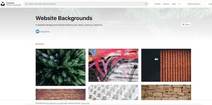 free website backgrounds on Unsplash